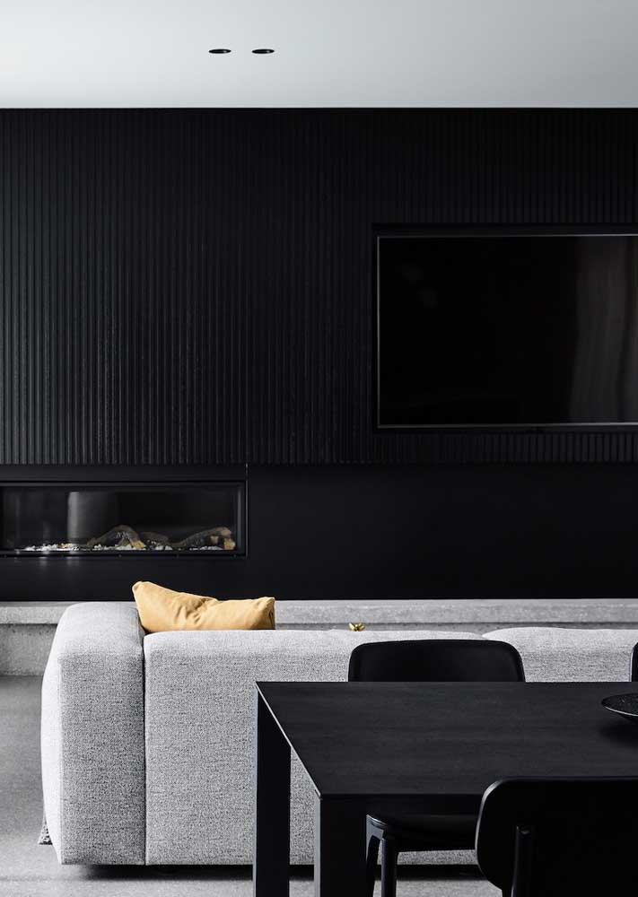 Sala preta e branca em proporções perfeitas