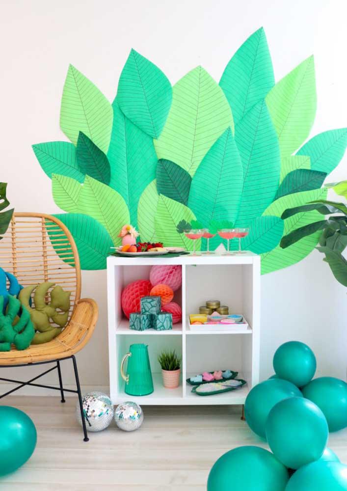 Cantinho em verde e azul para o Spa Day: as cores da calma, do equilíbrio e do relaxamento