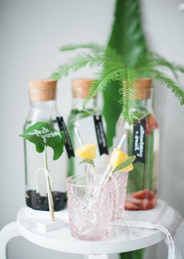 Bebidas refrescantes são uma ótima opção para o Spa Day