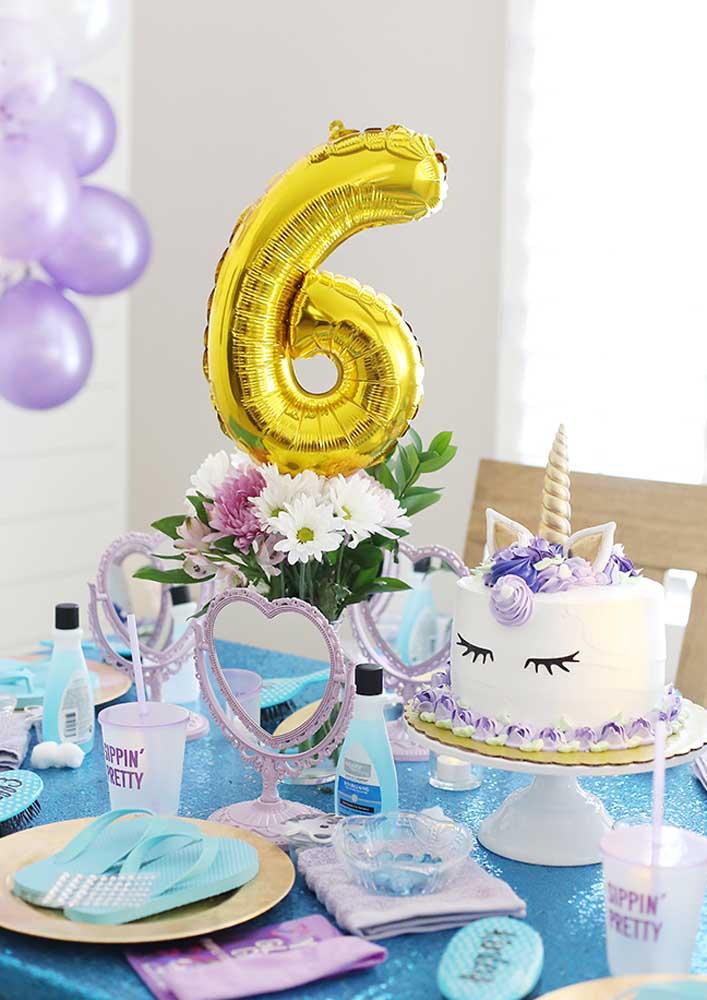 Aniversário infantil com tema Spa Day