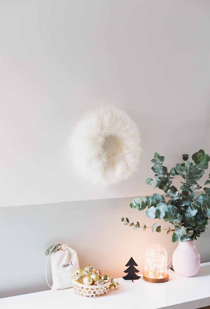Que tal uma decoração de Natal minimalista?
