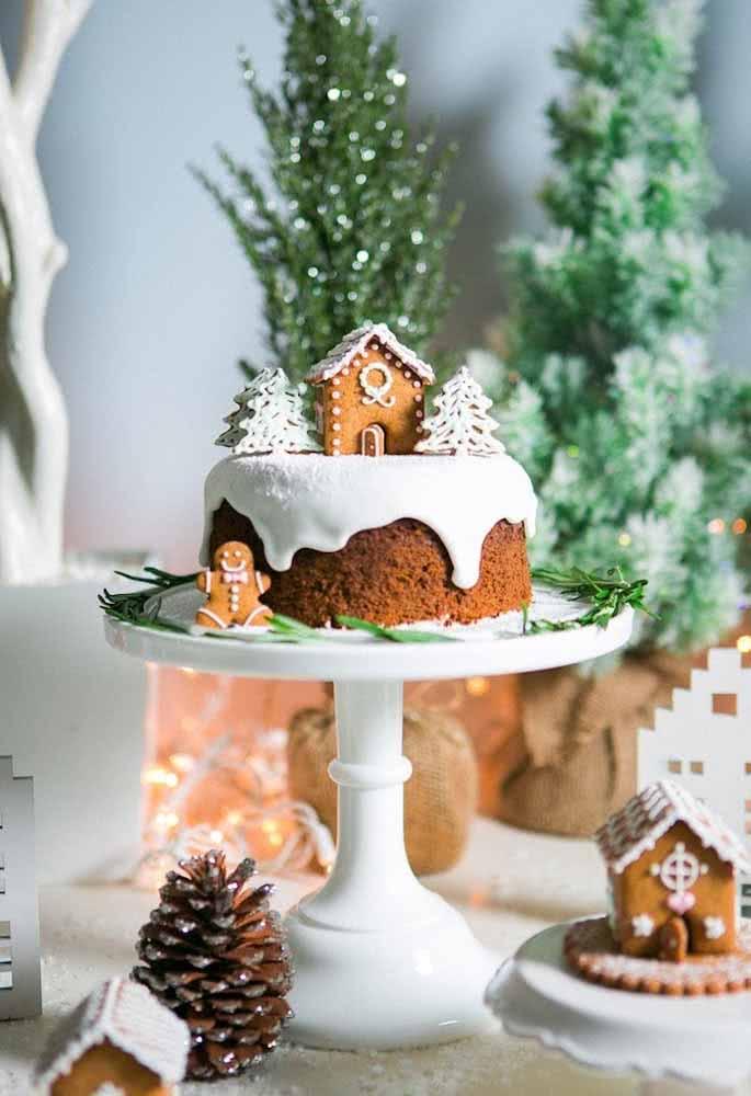 Que tal um bolo de Natal super fofo e apropriado para a ocasião?