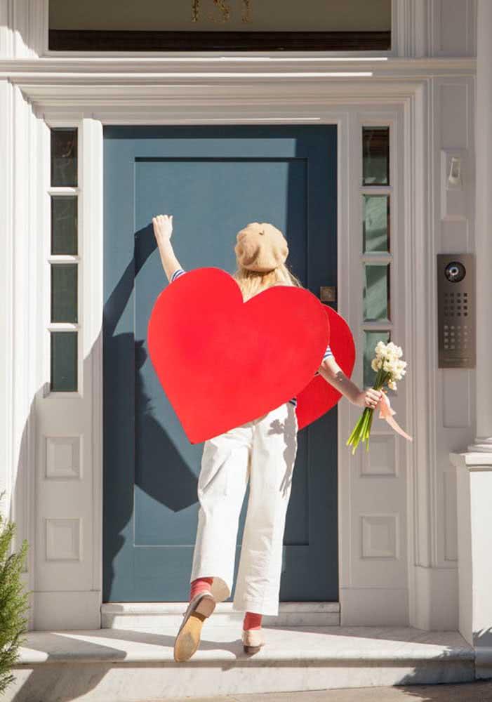 Surpresa romântica para o namorado: vista-se de coração!