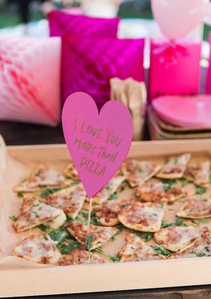Para os casais apaixonados por pizza!