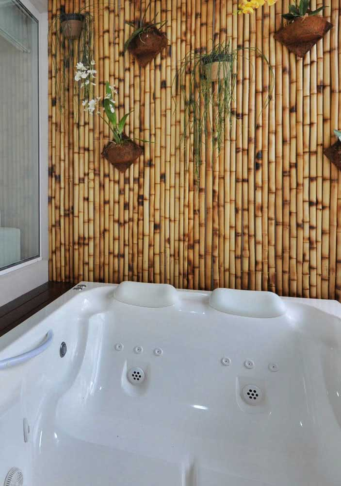 Bambu para garantir o clima zen da jacuzzi