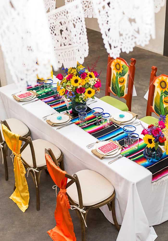 Jantar mexicano simples para um mini wedding