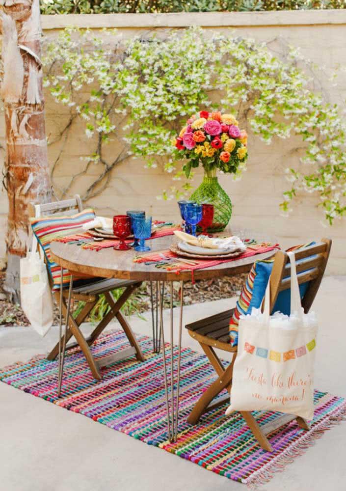 Jantar mexicano romântico para dois