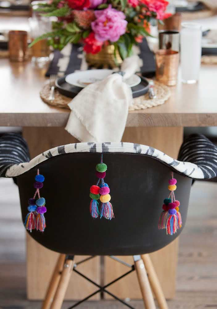 Detalhes para a decoração do jantar mexicano