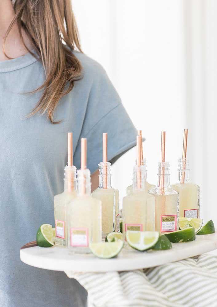 Tequila em mini garrafas