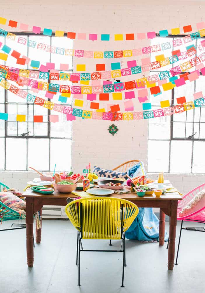 Jantar mexicano em casa simples