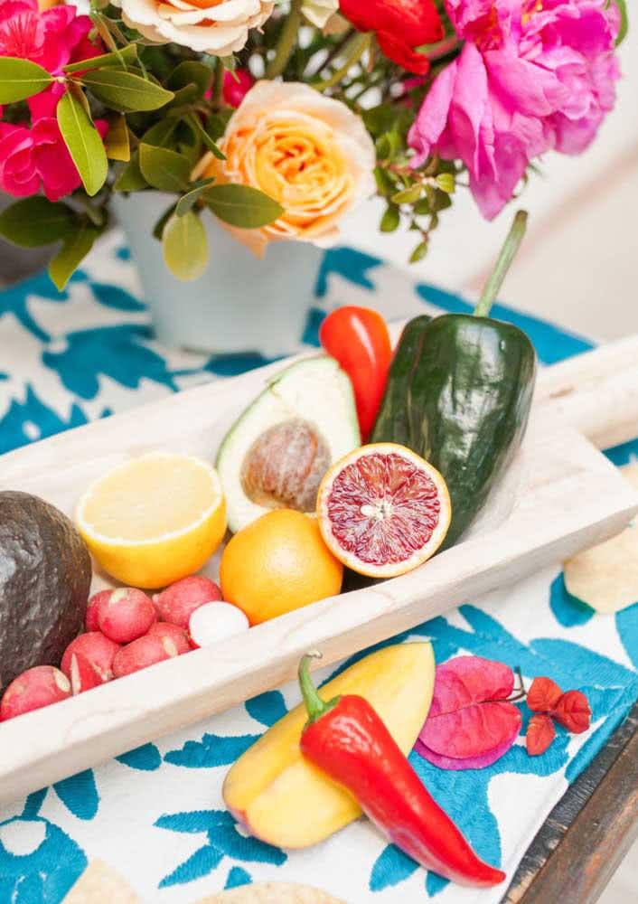Pimentas para decoração do jantar mexicano