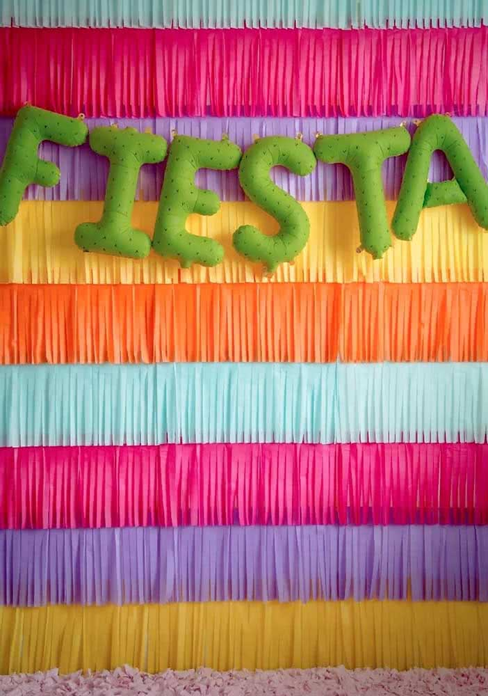 Uma festa em espanhol, literalmente!