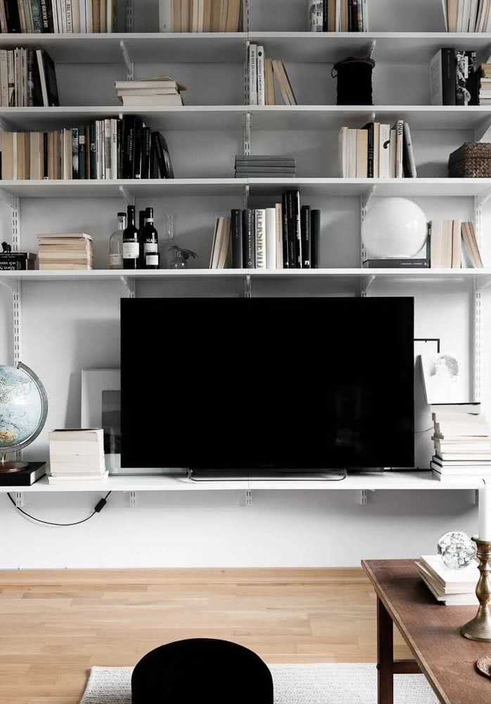 Estante para sala simples e moderna