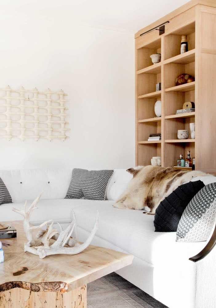 Estante de madeira para sala: o modelo preferido