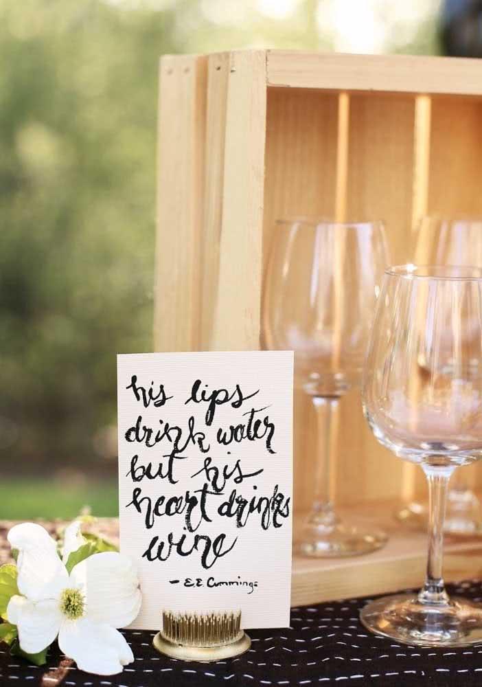 Frases temáticas combinam com a noite de queijos e vinho