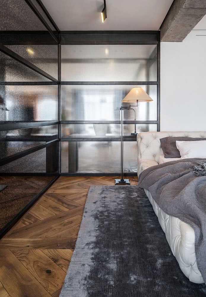Piso de madeira rústica para o quarto