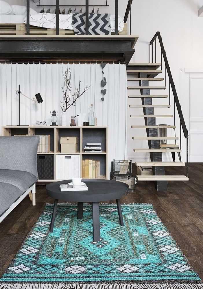 Porcelanato de madeira escura para sala de estar