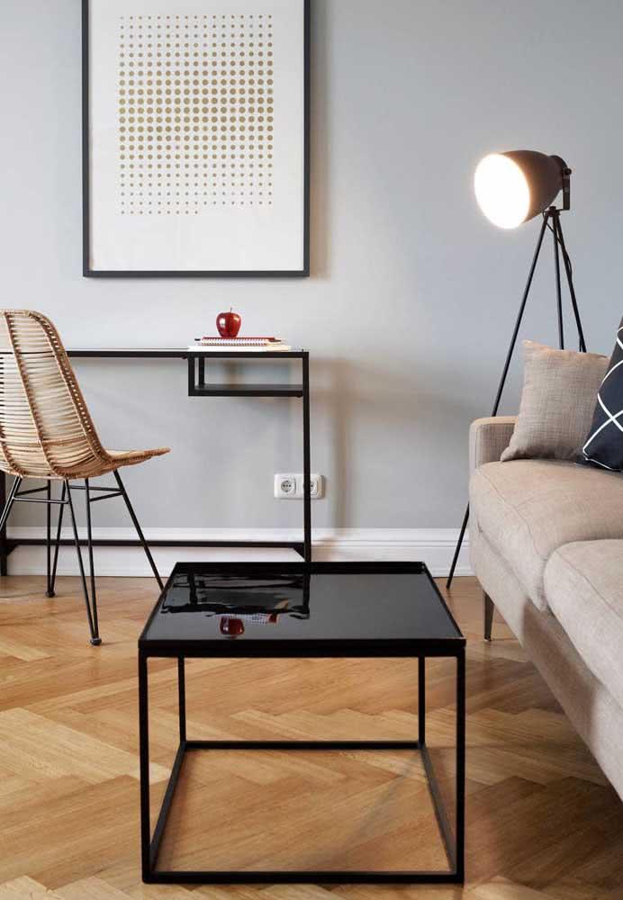 O contraste entre o charme retrô do taco com a decoração moderna