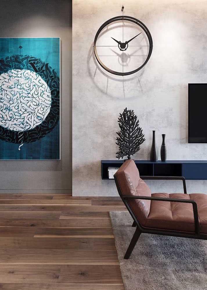 Sala moderna com piso vinilico