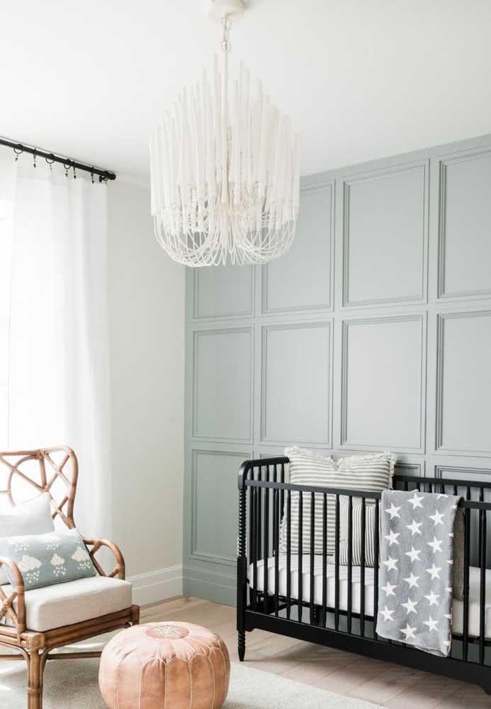 Lustre pendente de cristal para quarto de bebê unissex