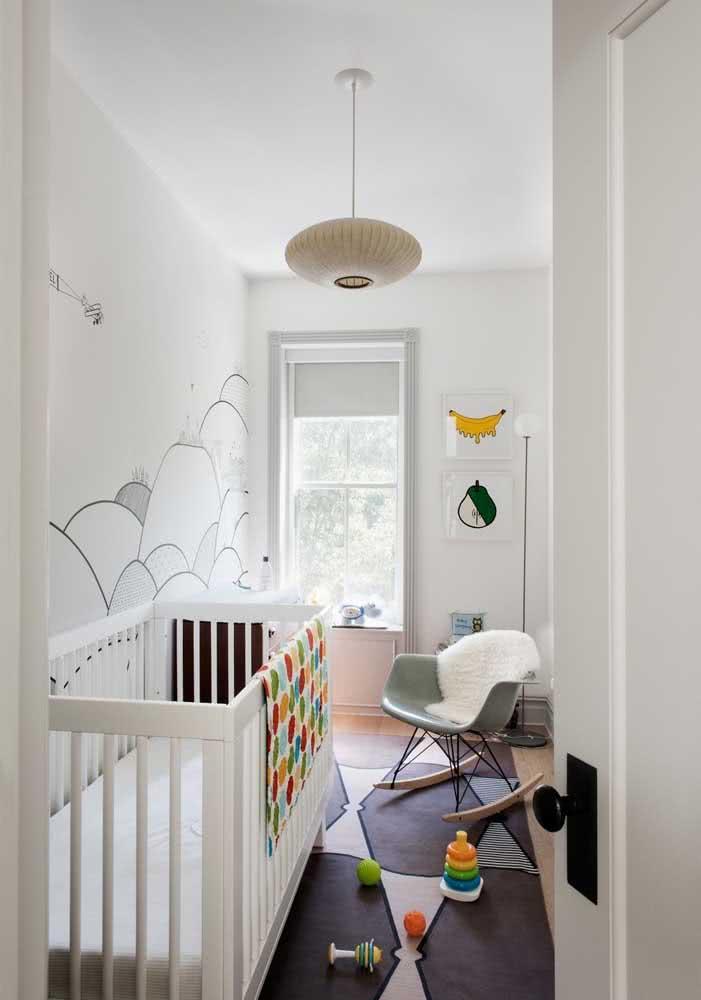 Já aqui, o lustre para quarto de bebê traz uma inspiração oriental
