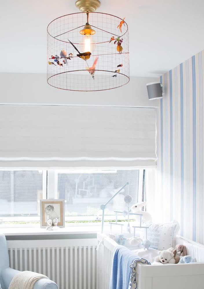 Um lustre ou uma casa de passarinhos? Muito fofa essa inspiração!