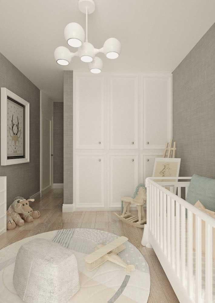Lustre para quarto de bebê unissex, tanto na cor, quanto no estilo