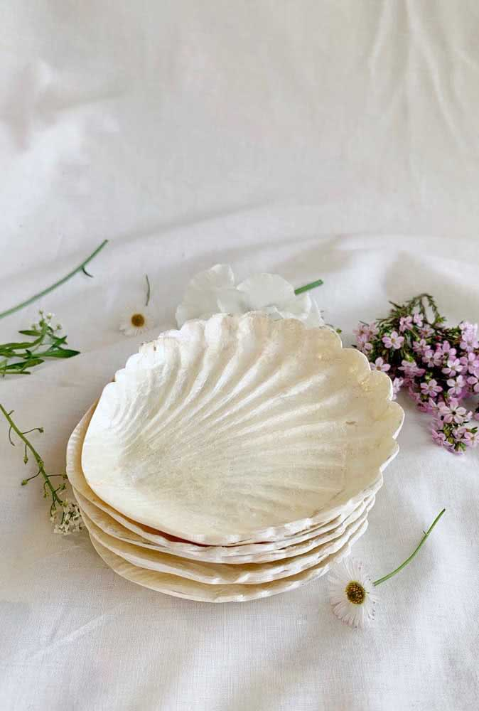 As conchas maiores podem servir como mini bandejas