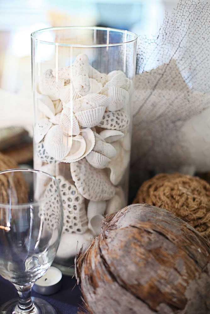 Artesanato com conchas mais simples do que esse não existe!
