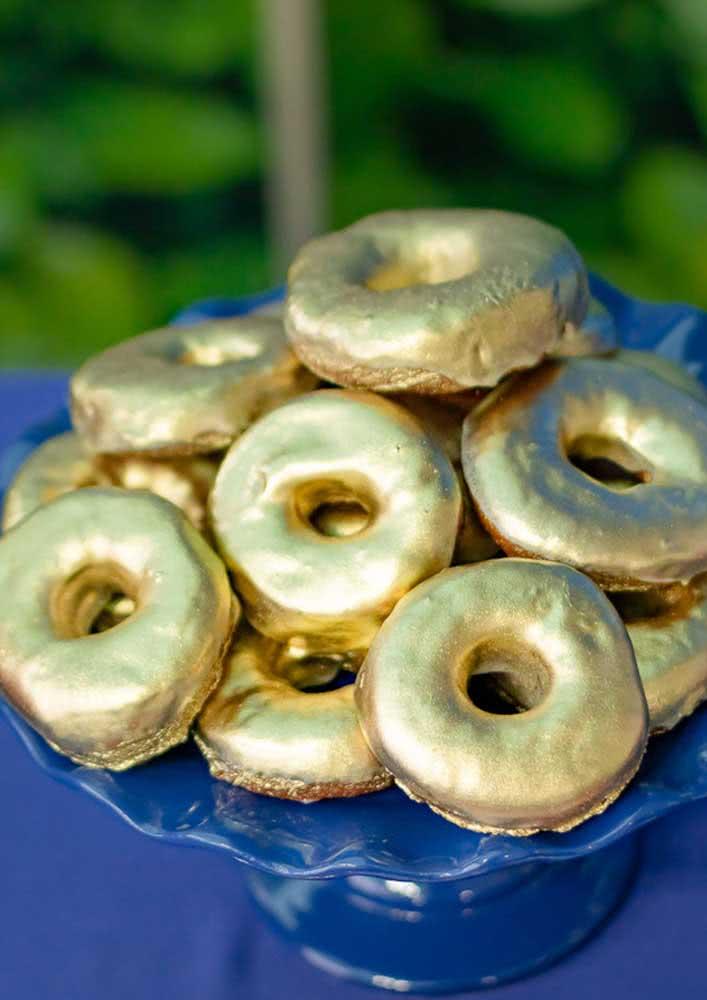 Cardápio da festa Sonic com donut's para simular as argolinhas do jogo