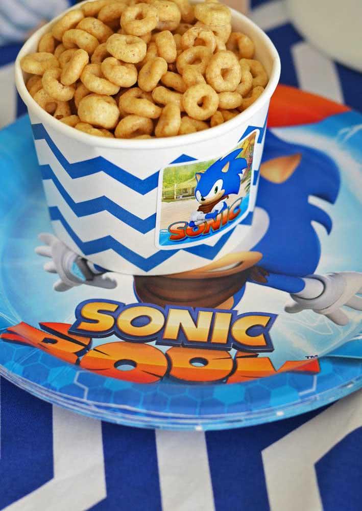 Salgadinhos de argola: a cara da festa Sonic