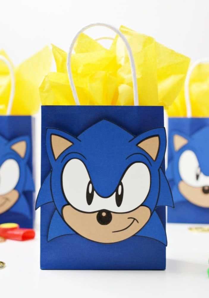 Sacolinhas surpresa do Sonic que você mesmo pode fazer em casa