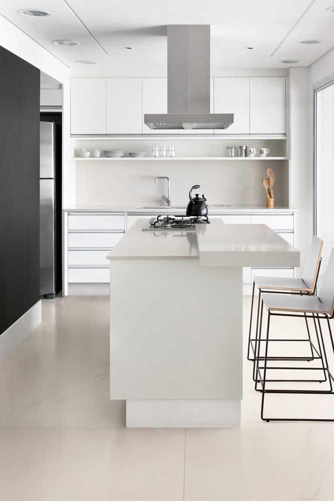 Para os apaixonados por cozinhas brancas!