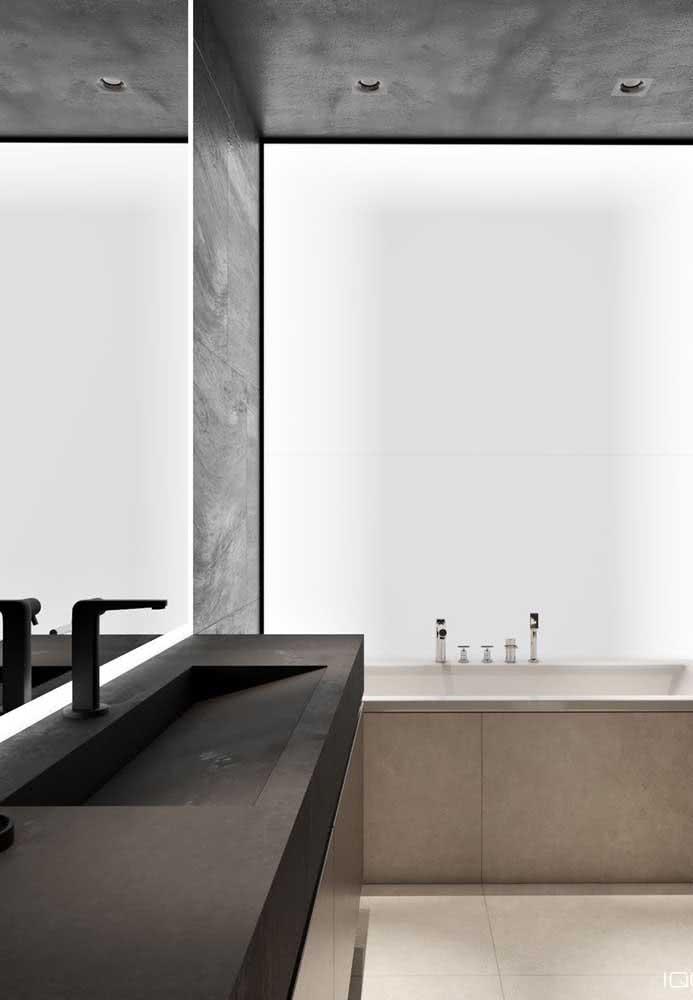 Bancada de porcelanato preto para quem deseja um projeto luxuoso e moderno