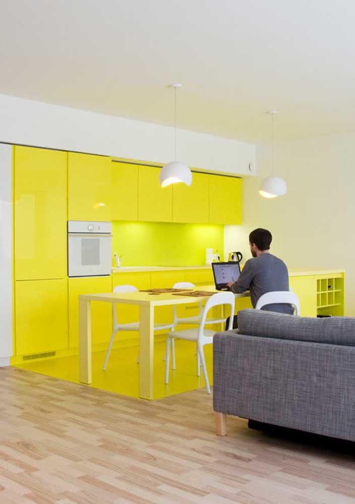 Um toque cítrico para a decoração da cozinha amarela