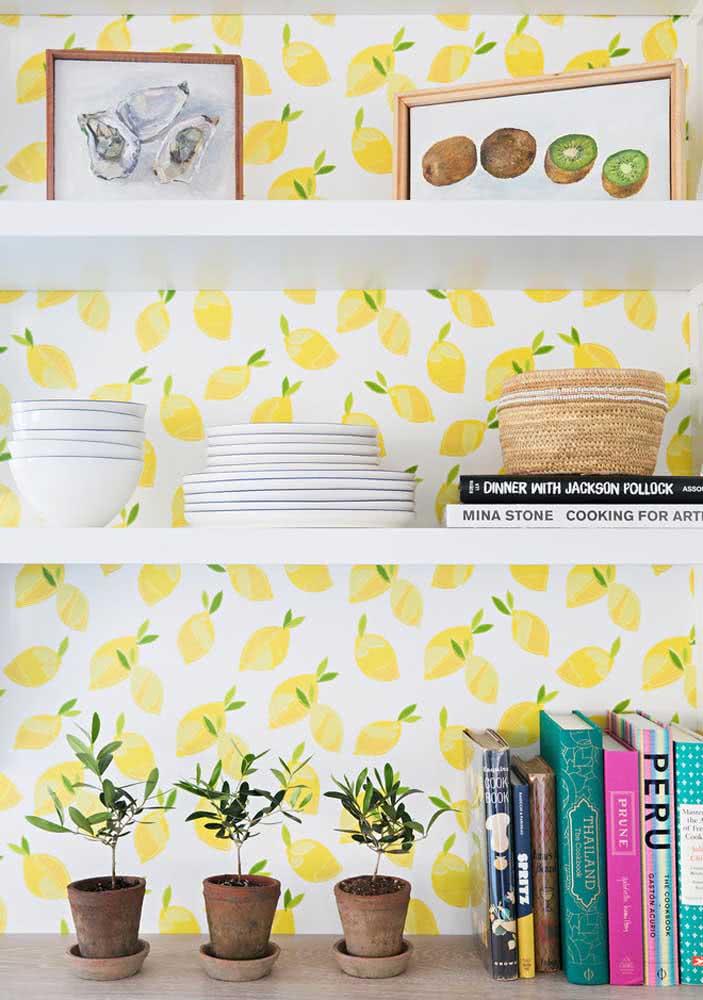 O charme do papel de parede de limão!