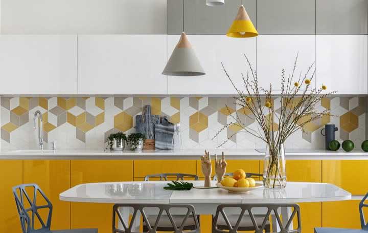 Cozinha amarela: dicas, combinações, como usar e 50 fotos de decoração