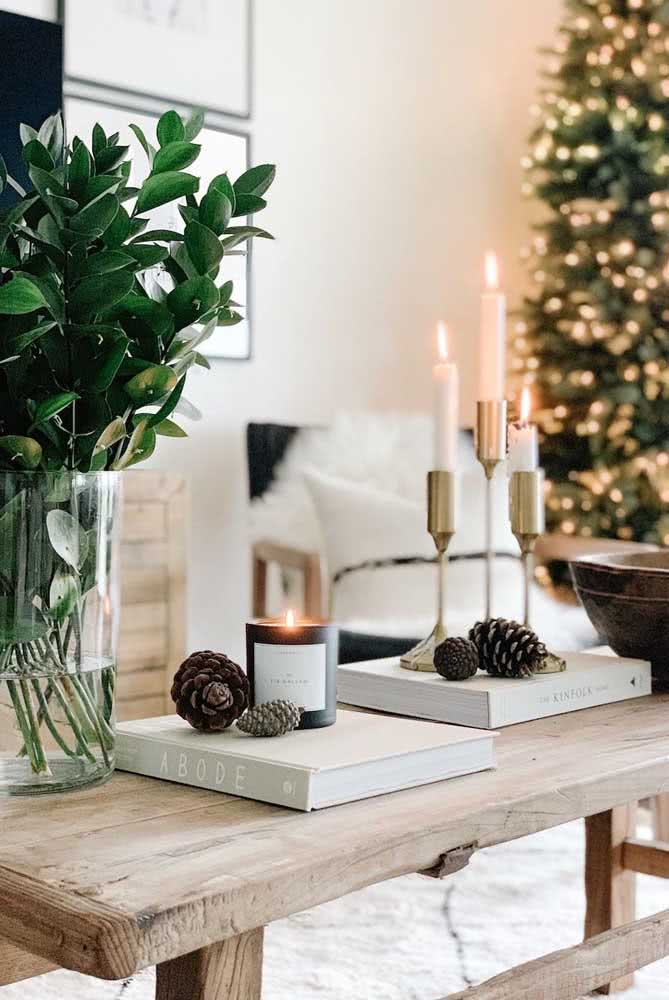 Decoração de natal simples e super elegante