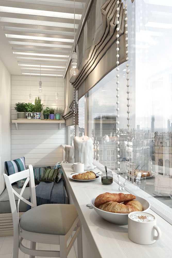 E que tal transformar a varanda do apartamento em uma mini área gourmet?