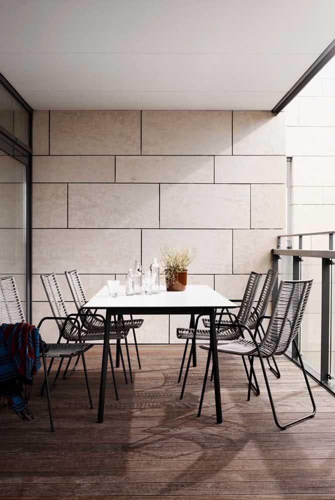 Área gourmet pequena, simples e moderna