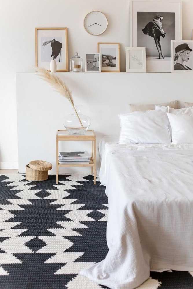 Quando o tapete é mais que um tapete ... é o centro das atenções do quarto