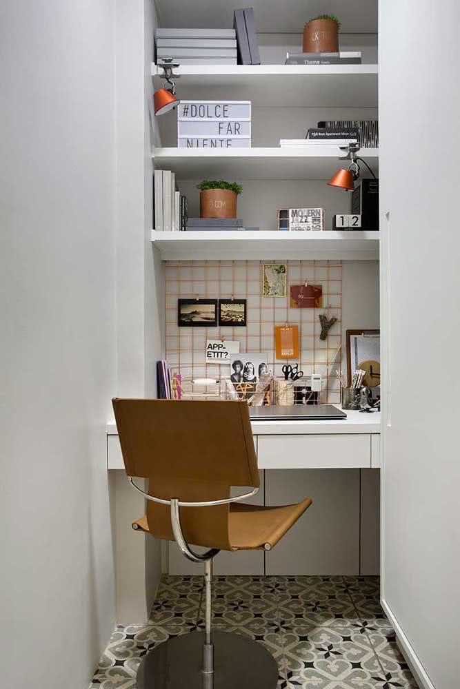 Cadeira para home office com design slim