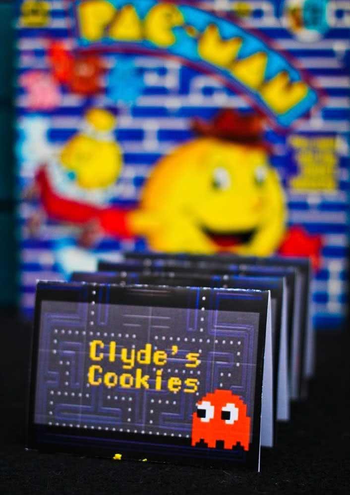 Ideia de convite para festa infantil Pacman