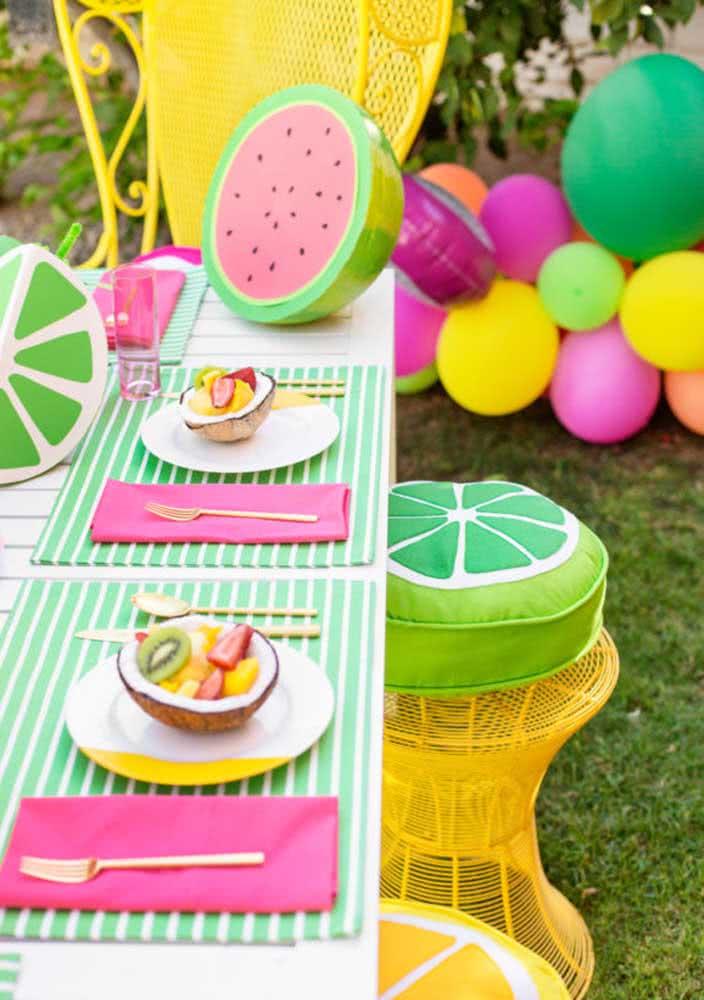 A festa Tutti Frutti fica perfeita com um piquenique ao ar livre