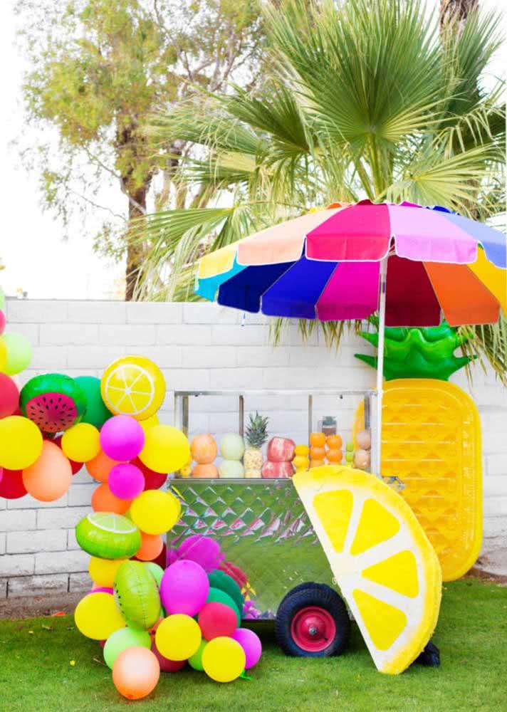 A festa Tutti Frutti também é a cara de lanchinhos e guloseimas saudáveis feitos a base de frutas