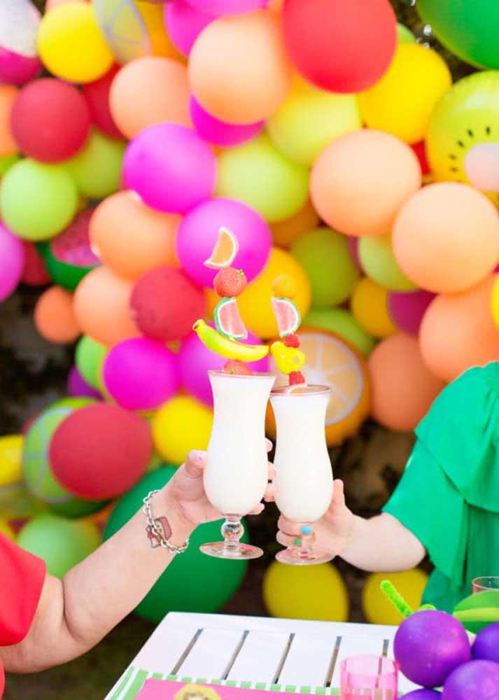 Drink de frutas para comemorar!
