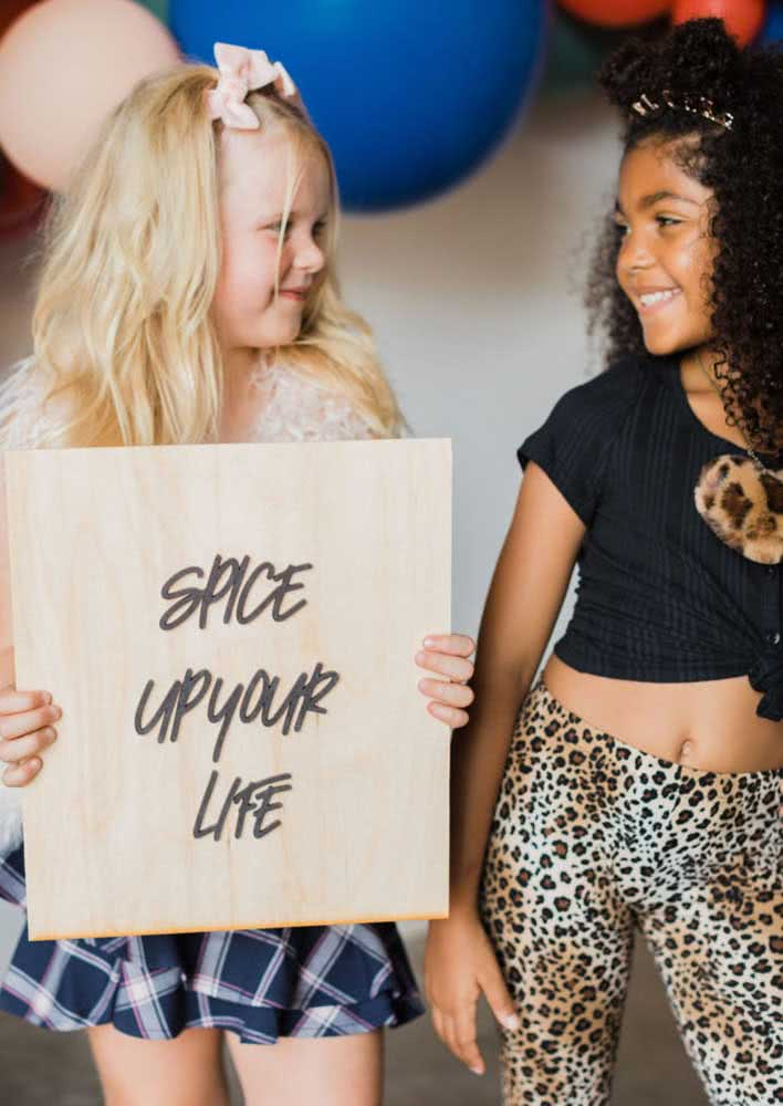 Uma sessão de fotos cai super bem no tema Spice Girls