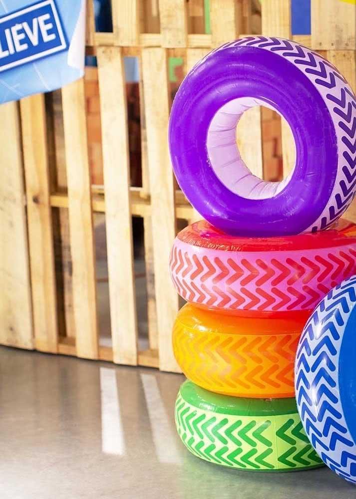 Pneus coloridos: decoração com sustentabilidade
