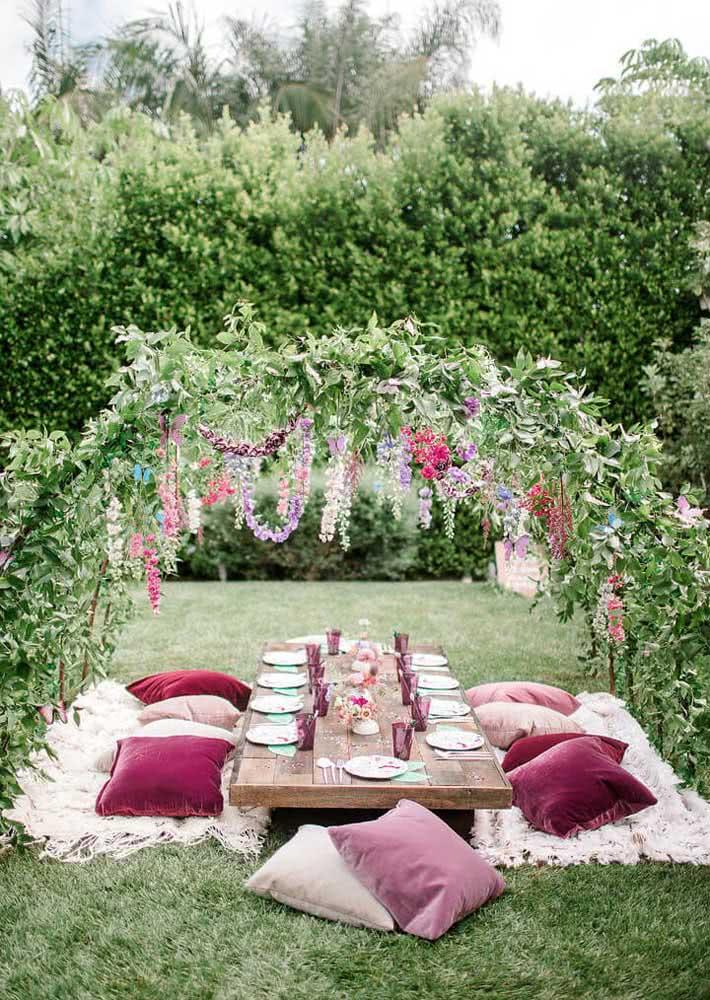 A festa jardim das borboletas acontece onde? No jardim, é claro!