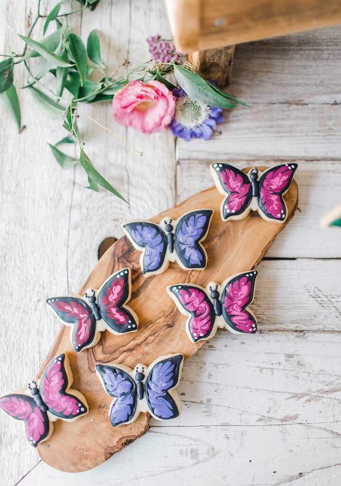 As borboletas não podem faltar!